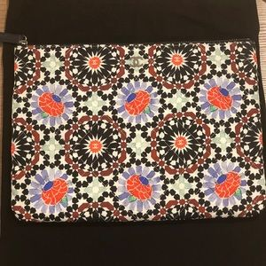 Chanel Floral Fabric Clutch